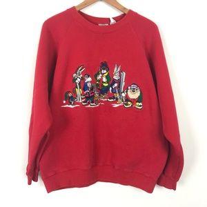 Vintage Looney Tunes Gang Skitrip Crewneck Sweater